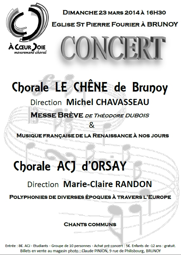 Concert du 23 mars 2014